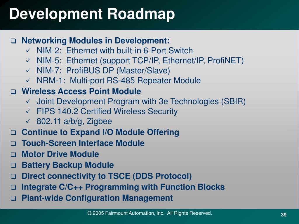 Development Roadmap