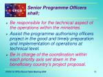 senior programme officers shall