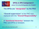 spos in ipa component i article 75 3 of the ipa regulation no 718 2007