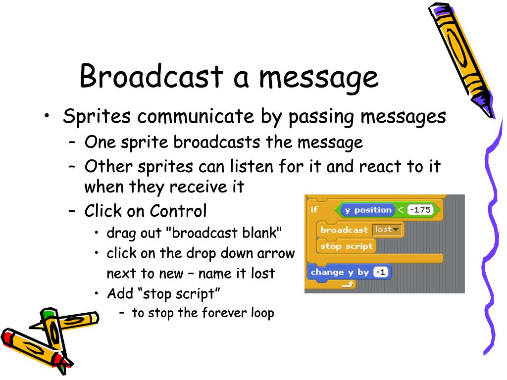 Broadcast a message