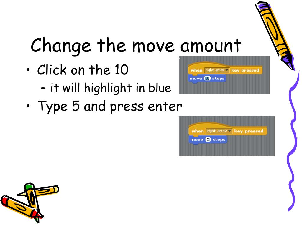 Change the move amount