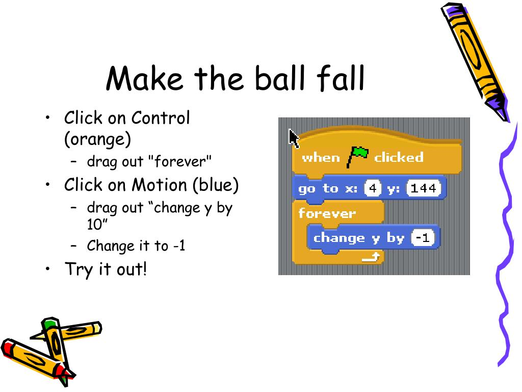 Make the ball fall