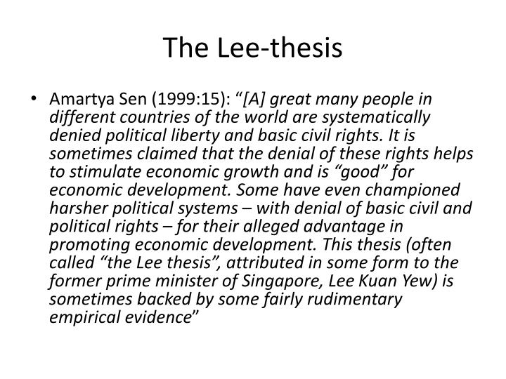 The lee thesis