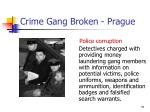 crime gang broken prague