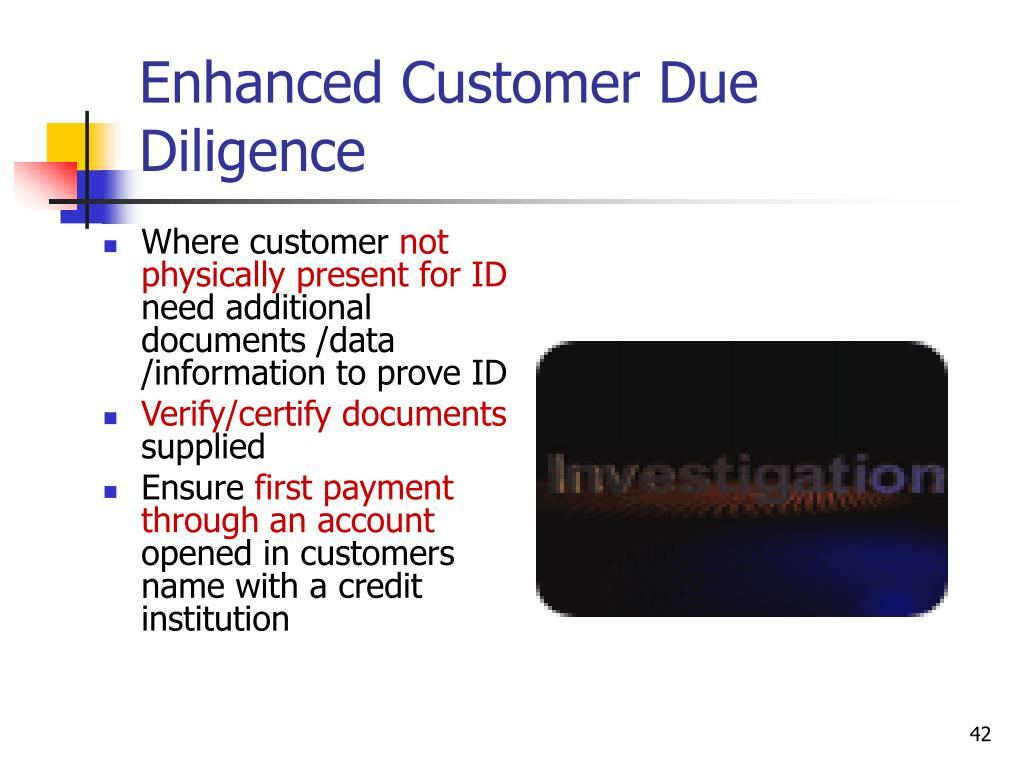 Enhanced Customer Due Diligence
