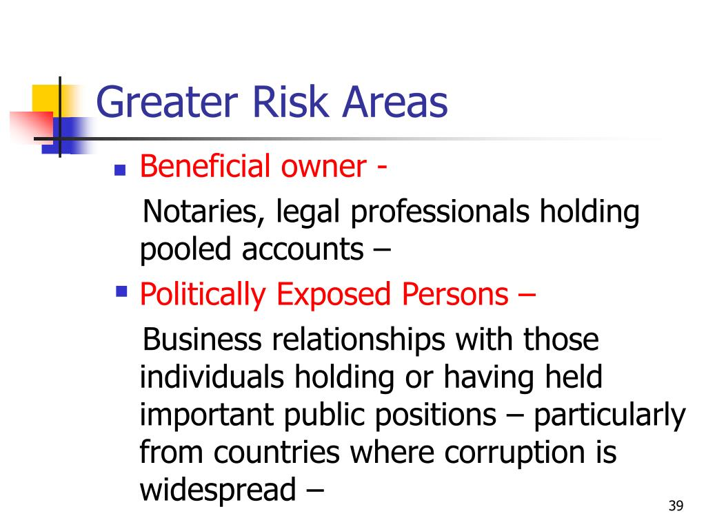 Greater Risk Areas