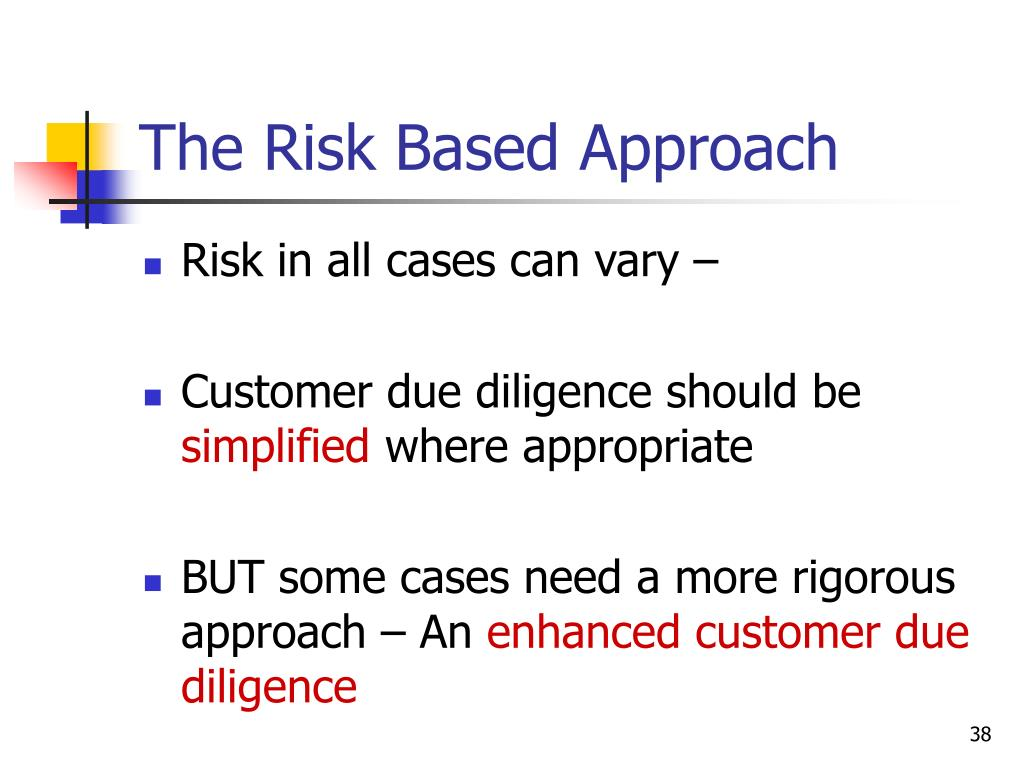 The Risk Based Approach