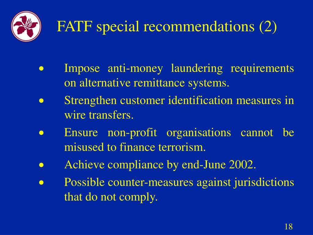 FATF special recommendations (2)
