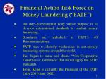 financial action task force on money laundering fatf