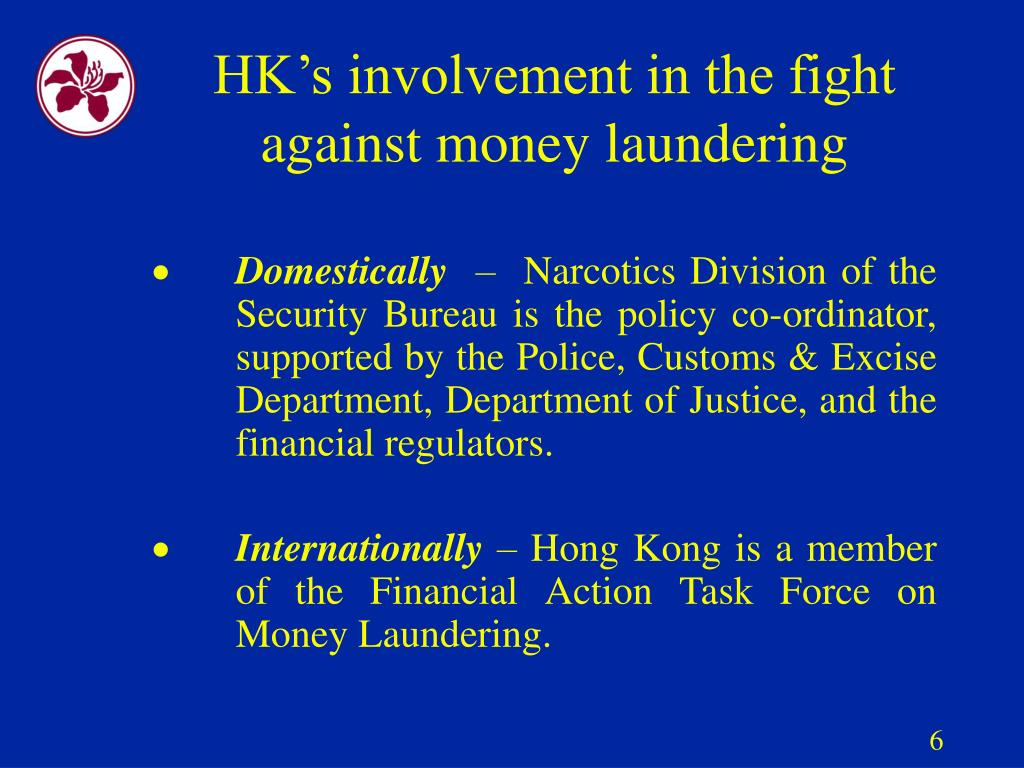 HK's involvement in the fight against money laundering