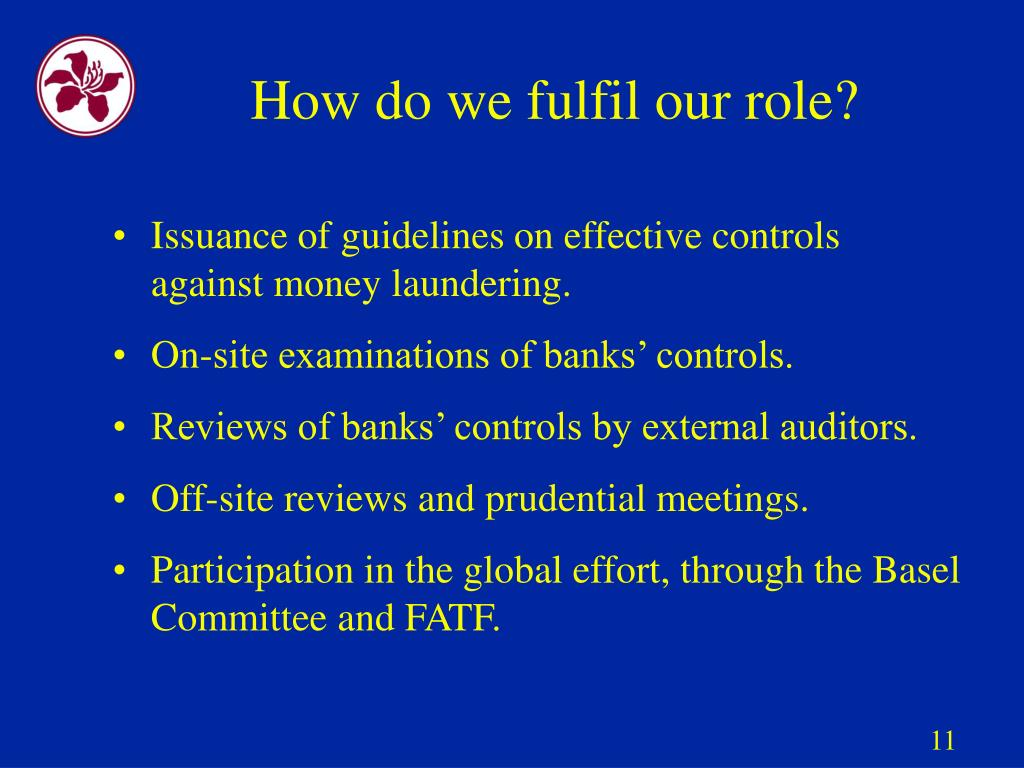 How do we fulfil our role?