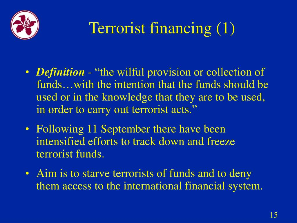 Terrorist financing (1)