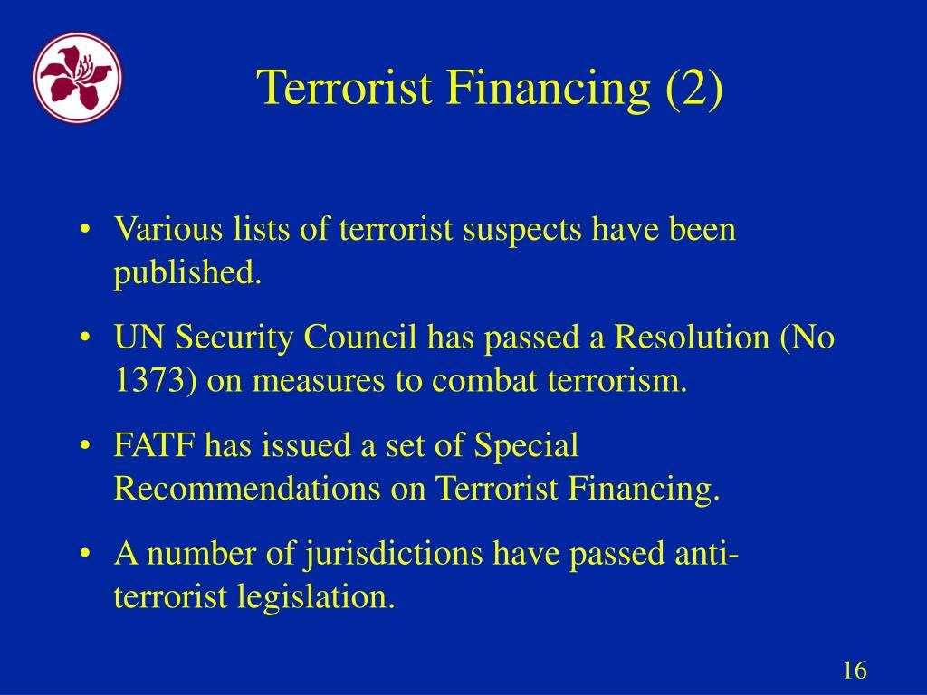 Terrorist Financing (2)