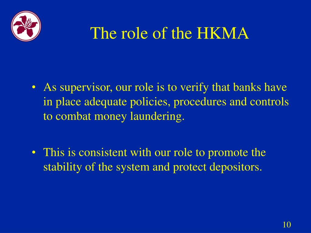 The role of the HKMA