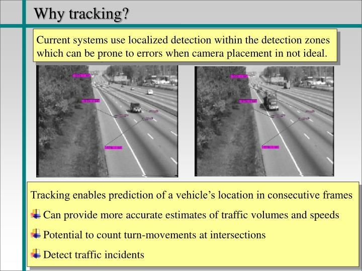 Why tracking?