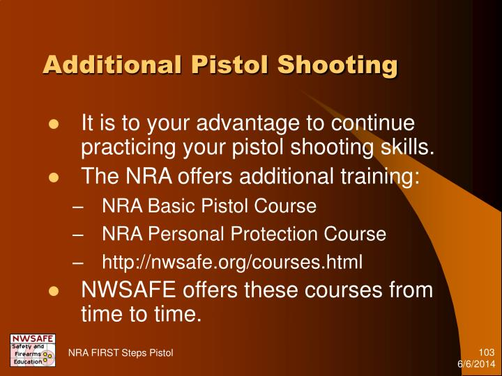 Additional Pistol Shooting