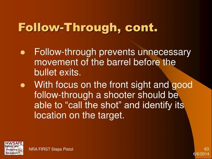 Follow-Through, cont.