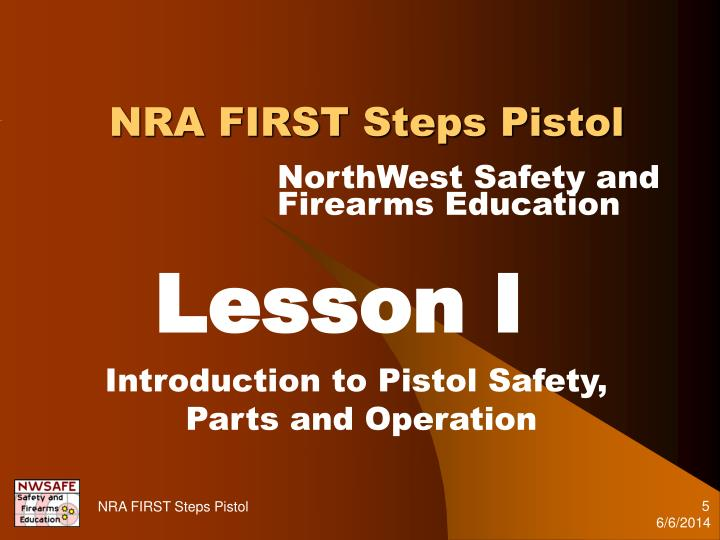 NRA FIRST Steps Pistol