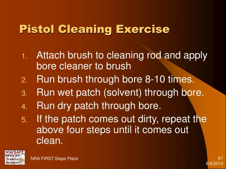 Pistol Cleaning Exercise