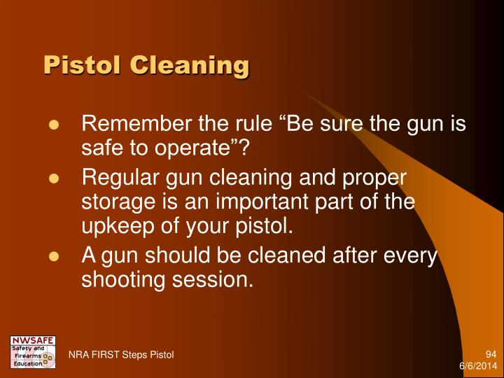 Pistol Cleaning