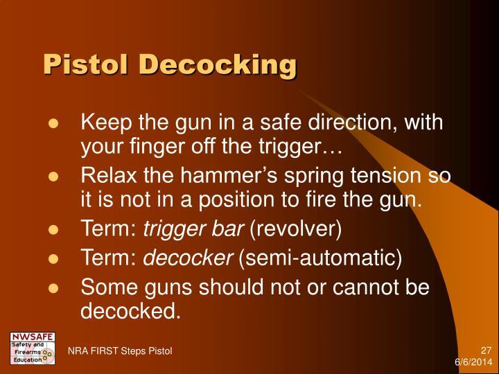 Pistol Decocking