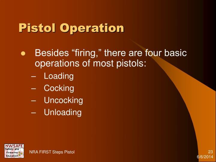 Pistol Operation