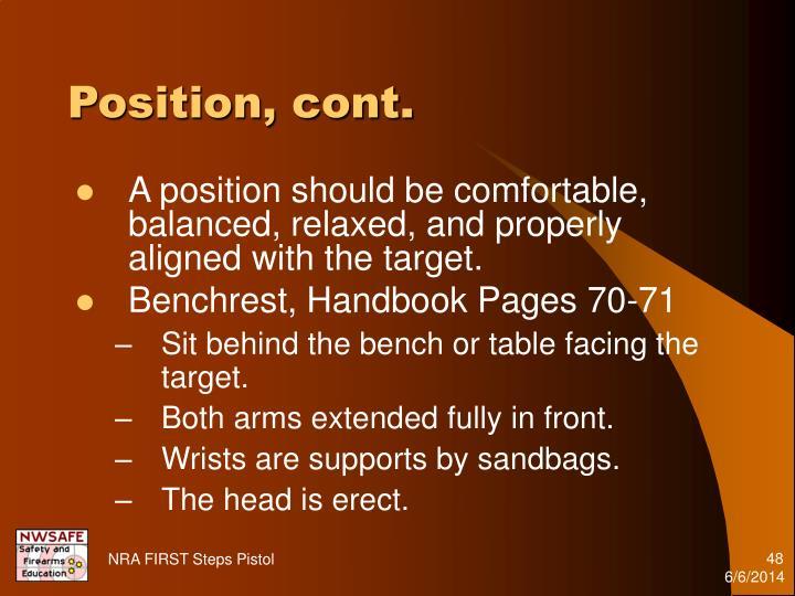 Position, cont.