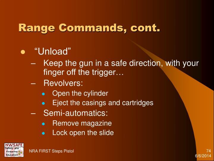 Range Commands, cont.