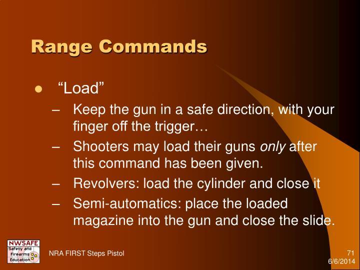 Range Commands