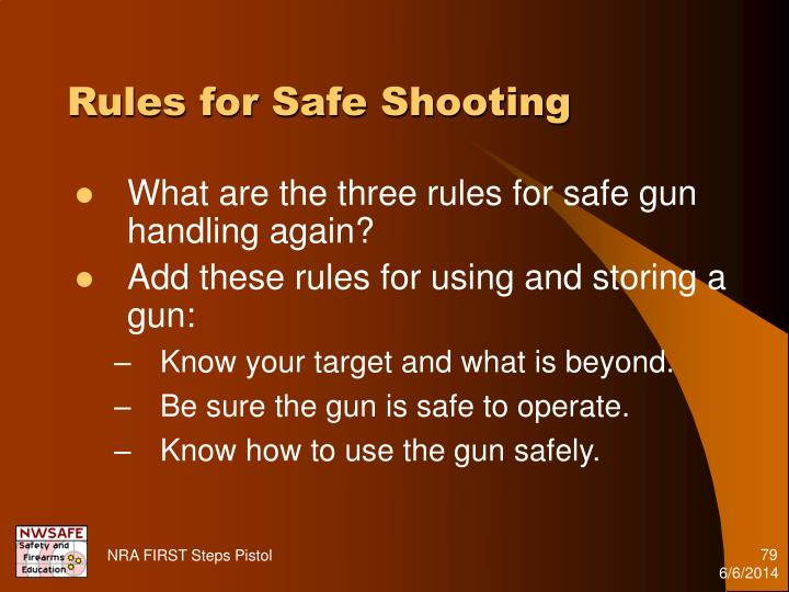 Rules for Safe Shooting