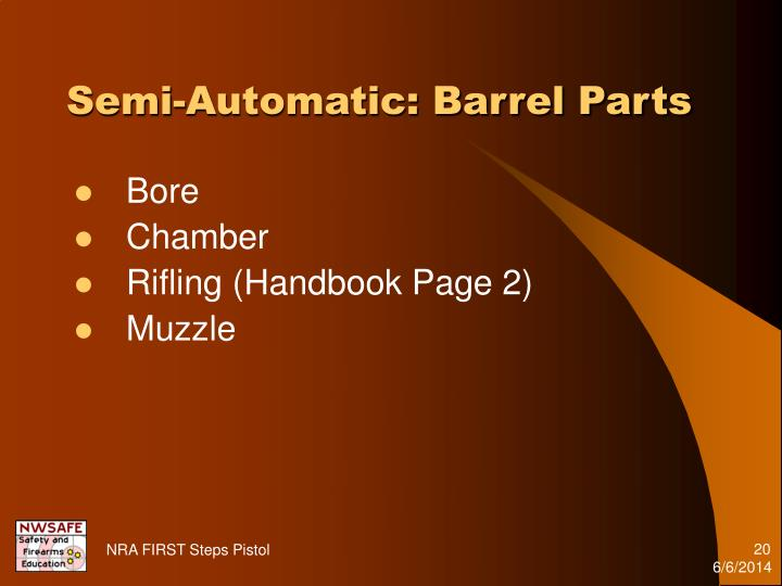 Semi-Automatic: Barrel Parts