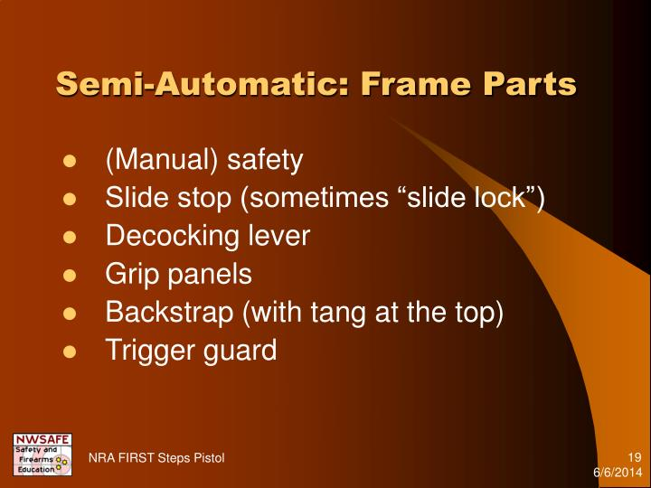 Semi-Automatic: Frame Parts