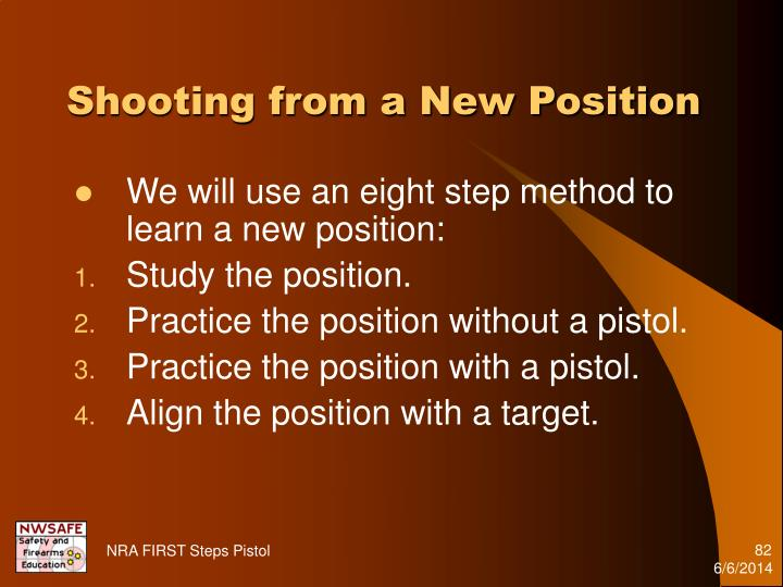 Shooting from a New Position