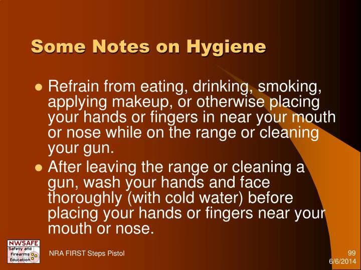 Some Notes on Hygiene