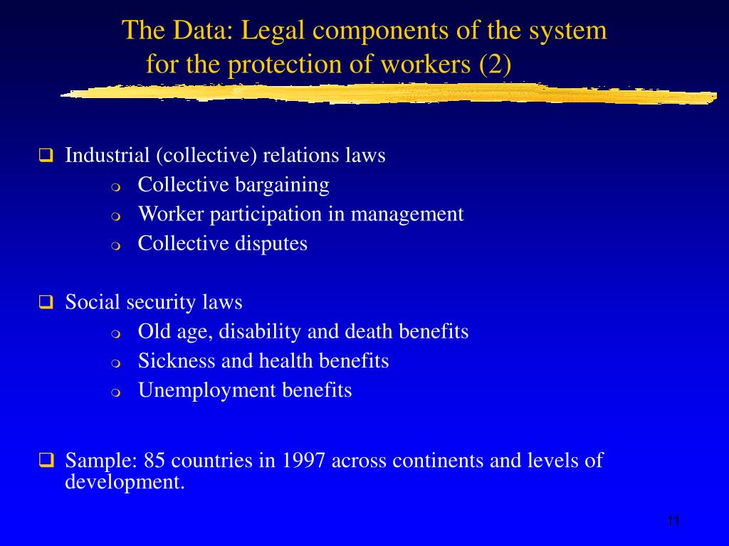 The Data: Legal components of the system