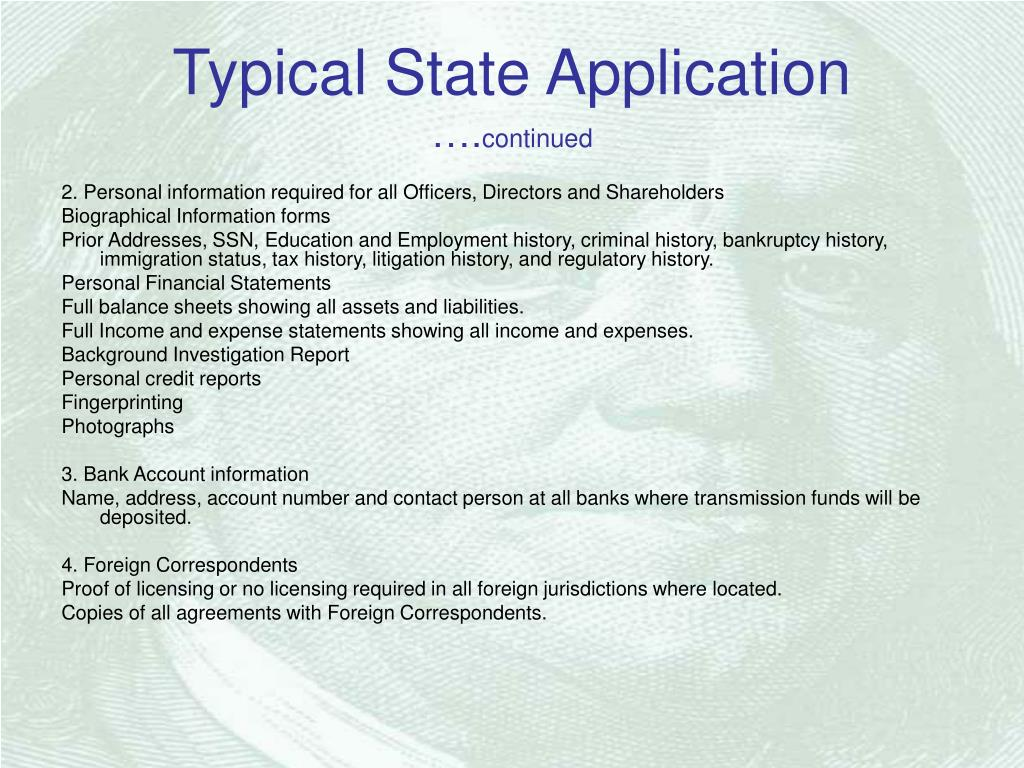 Typical State Application