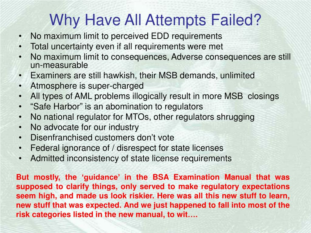 Why Have All Attempts Failed?