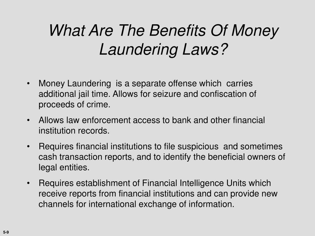 What Are The Benefits Of Money Laundering Laws?