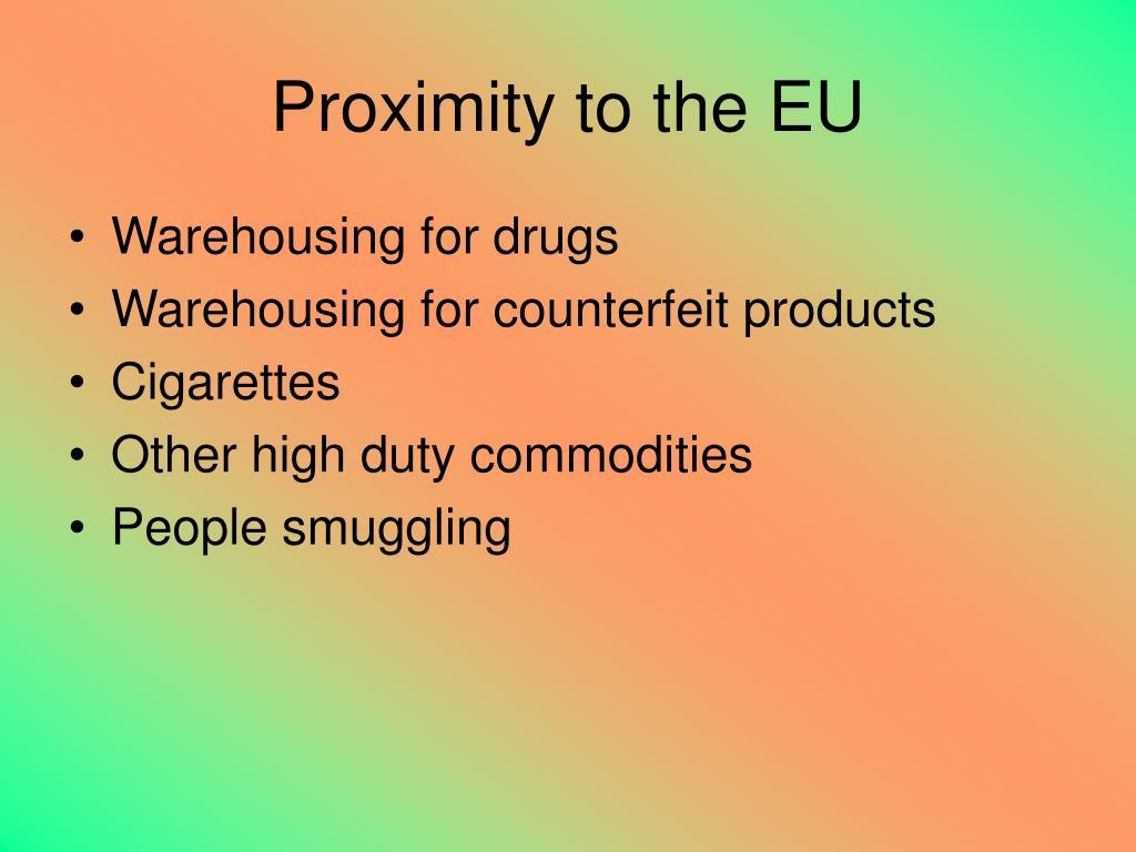 Proximity to the EU