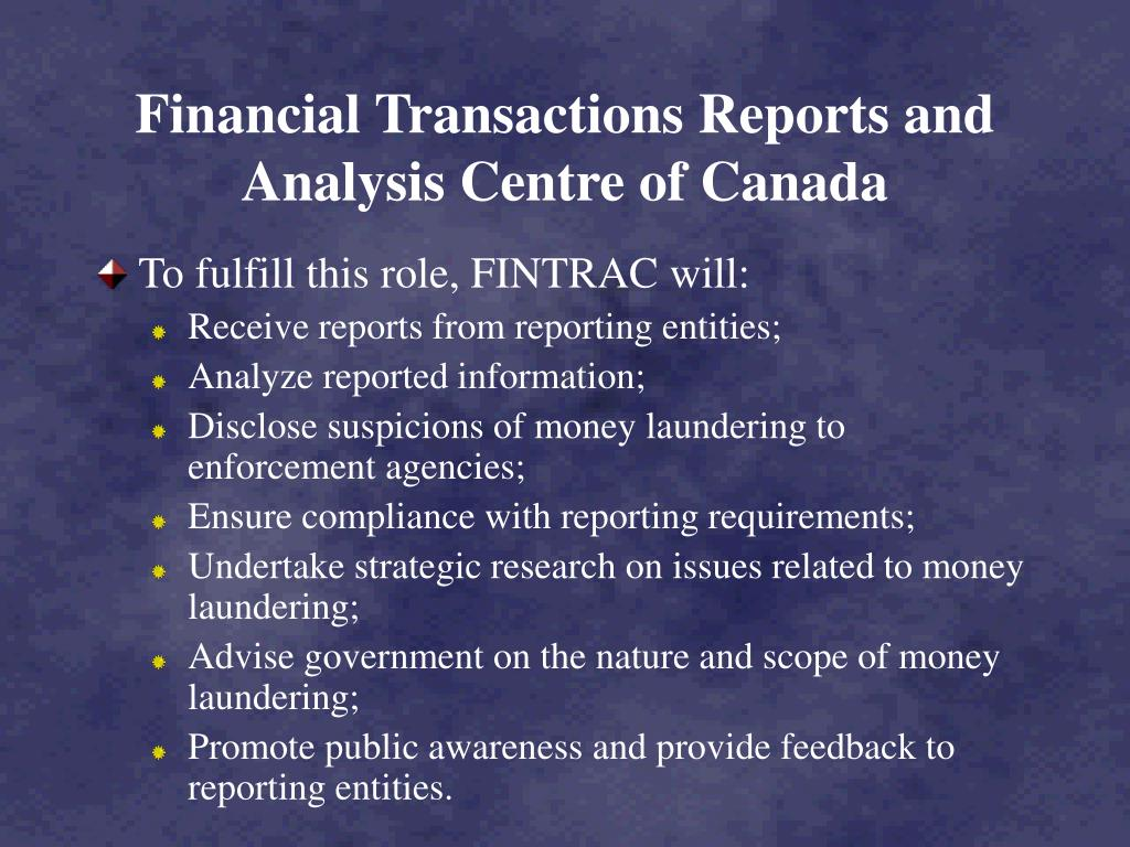 Financial Transactions Reports and Analysis Centre of Canada
