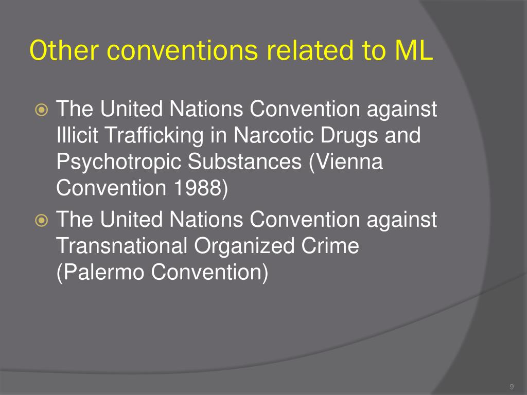 Other conventions related to ML