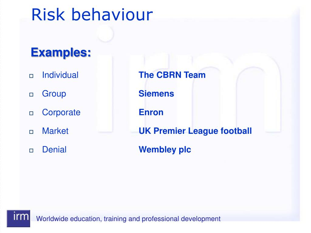 Risk behaviour