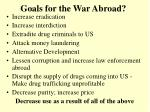 goals for the war abroad