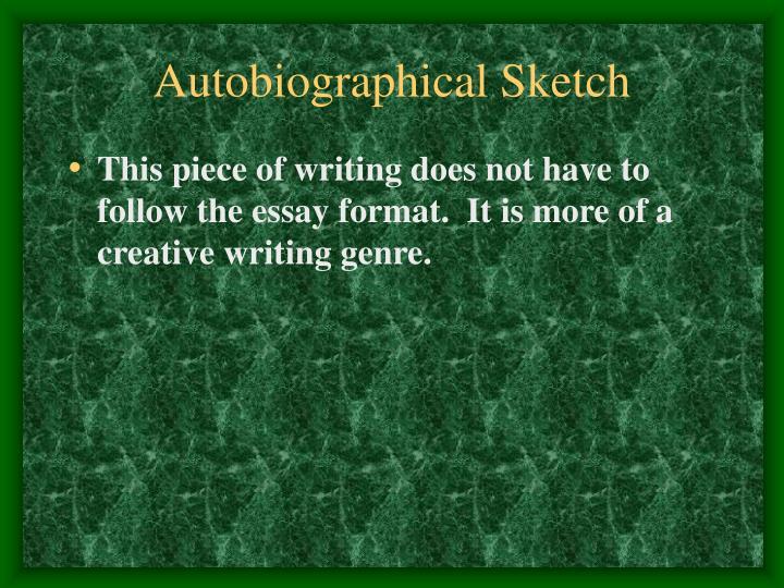 Autobiographical Sketch