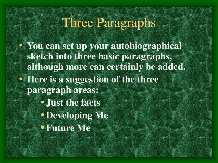 Three Paragraphs