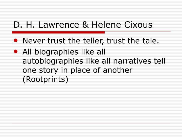 D. H. Lawrence & Helene Cixous