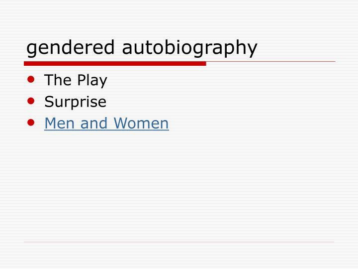 gendered autobiography