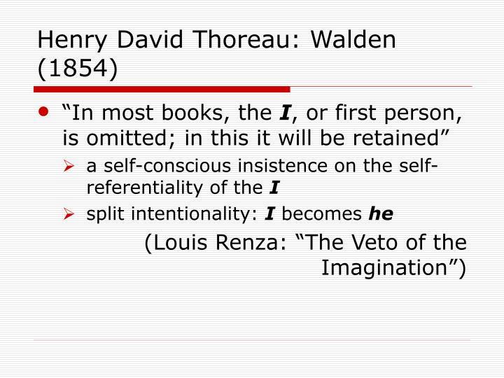 Henry David Thoreau: Walden (1854)