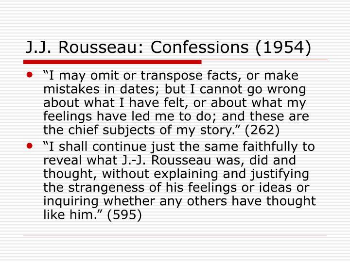 J.J. Rousseau: Confessions (1954)