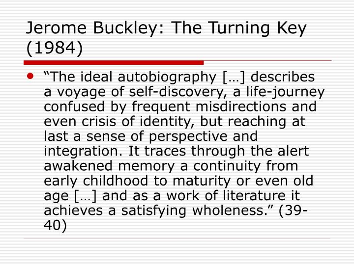Jerome Buckley: The Turning Key (1984)